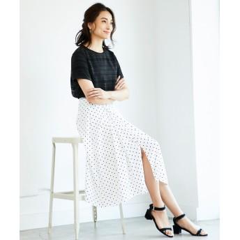 自由区(ジユウク)/【洗える】DRAPE DOT スカート