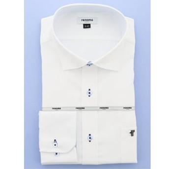 【GRAND-BACK:トップス】【大きいサイズ】レノマオム/renoma HOMME 形態安定吸水速乾ワイドカラー長袖ビジネスドレスシャツ/ワイシャツ