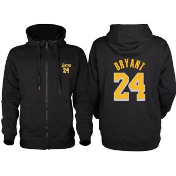 マンバアウト!kobeファン自家製のパーカーの喪24#8#マンバ大学ブラック太いバスケットボールのトレーニング衣装CMKA0736 (Color : Black, Size : M)