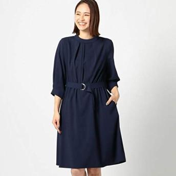 ミューズ リファインド クローズ(MEW'S REFINED CLOTHES) 2wayベルトスタンドネックワンピース【ネイビー/M】