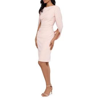 [ベッツィ アンド アダム] レディース ワンピース Draped Long-Sleeve Dress [並行輸入品]