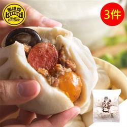 【黑橋牌】招牌香腸肉包6入3件組(純牛奶製作軟Q外皮配上招牌香腸)