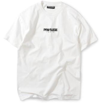 PRIVILEGE プリビレッジ PRIVILEGE TOKYO LOGO S/S TEE 半袖 Tシャツ PE200101 WHITE ホワイト