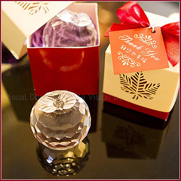 紅色楓葉盒裝水晶蘋果(透明)-姊妹禮/伴娘禮/活動禮/來店禮/贈品/婚禮小物 幸福朵朵