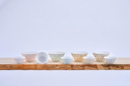 櫻花圖案茶杯 (L) 金