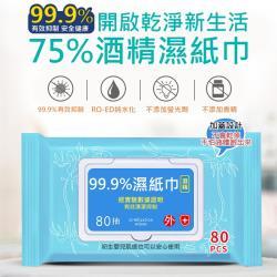 酒精抗菌濕紙巾80抽