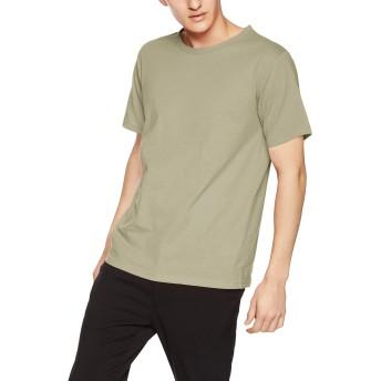 [ヘインズ] Tシャツ カラーズ Colors クルーネック 丸首 24色展開 重ね着 RECOVERJersey HM1-P101 メンズ グレイッシュグリーン 日本 L (日本サイズL相当)