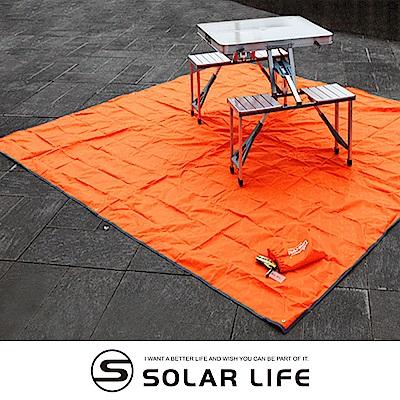 ONEROAD防潮露營野餐地墊3x3m附收納袋.居家室外防水郊遊坐墊遮陽天幕帳篷地布睡墊