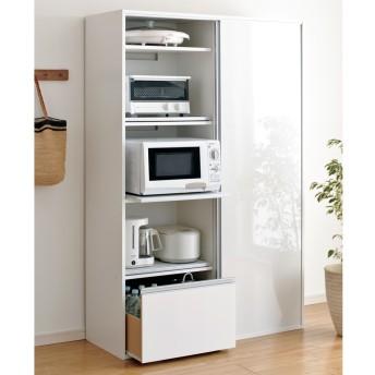 dポイントが貯まる・使える通販| 全部隠せる スライド棚付きキッチン家電収納庫 ハイタイプ 777505 【dショッピング】 キッチン収納・食品棚 おすすめ価格
