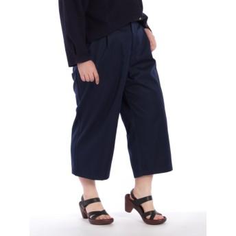 【大きいサイズレディース】【3-4L展開】タックワイドパンツ パンツ ワイドパンツ