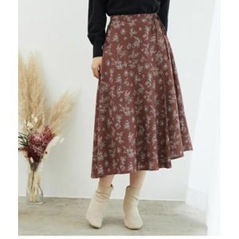 【ROPE' PICNIC:スカート】ワンタックフラワースカート