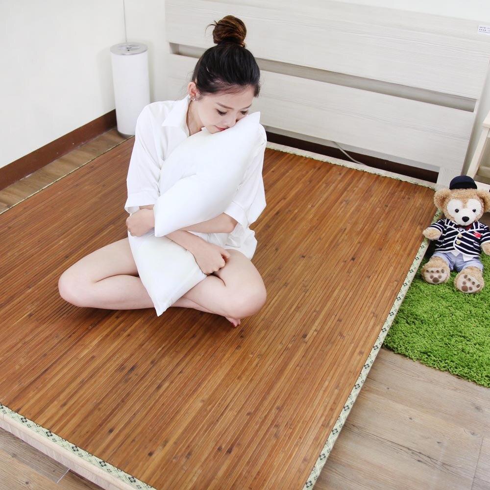 涼蓆/竹蓆/雙人【台灣碳化桂竹涼夏蓆】涼感降溫  MIT台灣製  Rohouse 樂活居