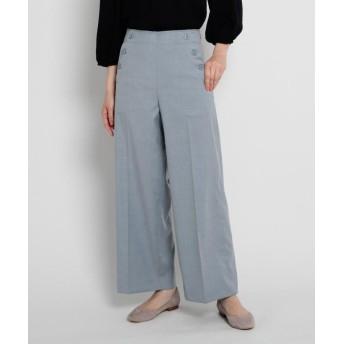 Dessin(Ladies)(デッサン(レディース)) 【XS~Lサイズあり・洗える】ポケットボタンワイドパンツ