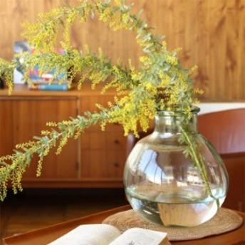 VALENCIA リサイクルガラス フラワーベース DIECISEIS  フラワーベース 花瓶 ガラス クリア おしゃれ グリ