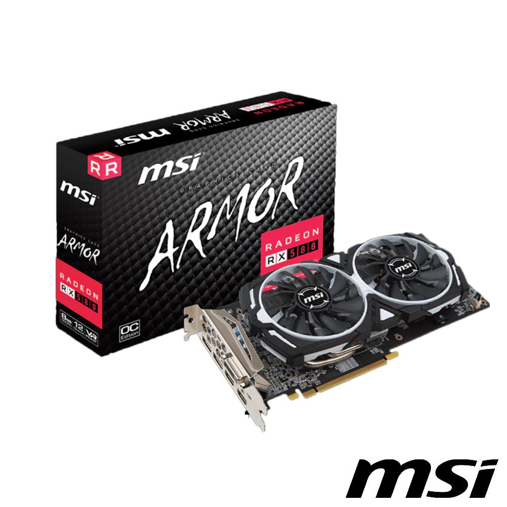 MSI 微星 RADEON RX 580 ARMOR 8G OC 顯示卡