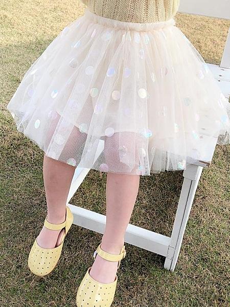 女童裝圓點網紗裙新款寶寶夏款短裙兒童公主蓬蓬紗 洛小仙女鞋