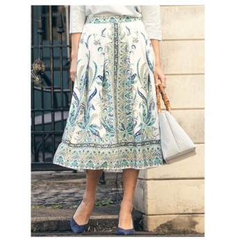 Viaggio Blu(ビアッジョブルー)ペイズリープリントスカート