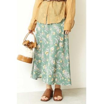 【フリーズマート/Free's Mart】 チューリップ柄フレアロングスカート
