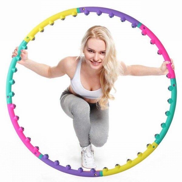 磁石呼啦圈收腰女成人收腹可拆卸呼拉圈兒童健身圈美腰塑身嘩啦圈創時代3C 交換禮物 送禮