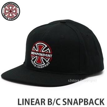 インディペンデント リニア B/C スナップバック INDEPENDENT LINEAR B/C SNAPBACK 帽子 スケボー キャップ SKATE CAP カラー:BLACK