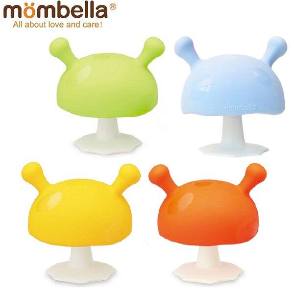 【Mombella媽貝樂】Q比小蘑菇固齒器(綠/橘/黃/淡藍)