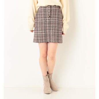 【アルシーヴ/archives】 フロントボタン台形スカート