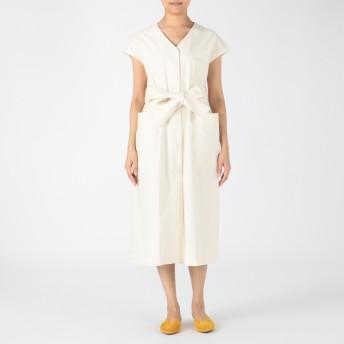 LE CIEL BLEU(ルシェルブルー)/Neppy Cotton Gilet Dress