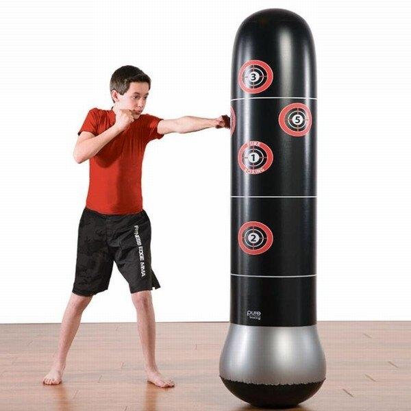 拳擊沙包成人兒童拳擊不倒翁充氣沙袋加厚玩具充氣拳擊柱發泄健身器材jy創時代3C 交換禮物 送禮