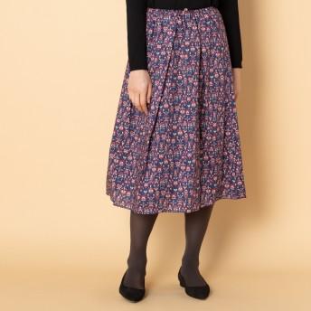 HELIOPOLE(エリオポール)/リバティー柄タックギャザースカート