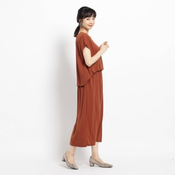 THE SHOP TK(Women)(ザ ショップ ティーケー:レディース)/ジャージブラウジングドッキングワンピース