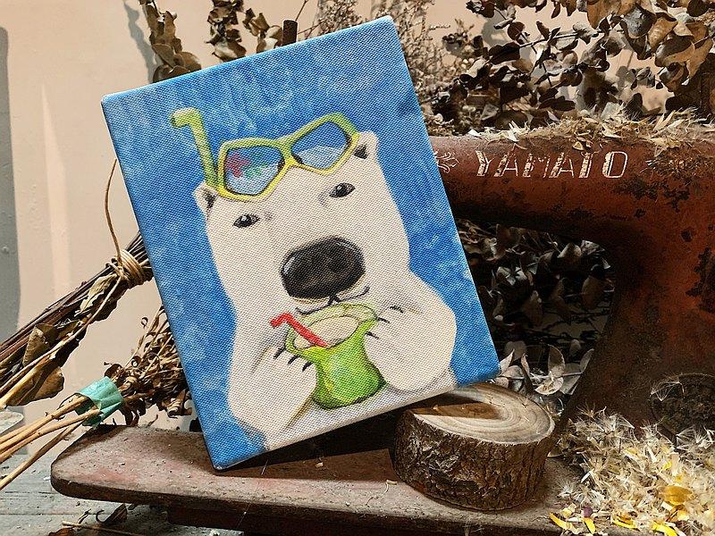 小畫框原畫 /  北極熊先生 日子就是要這樣過 - 動物的日常系列