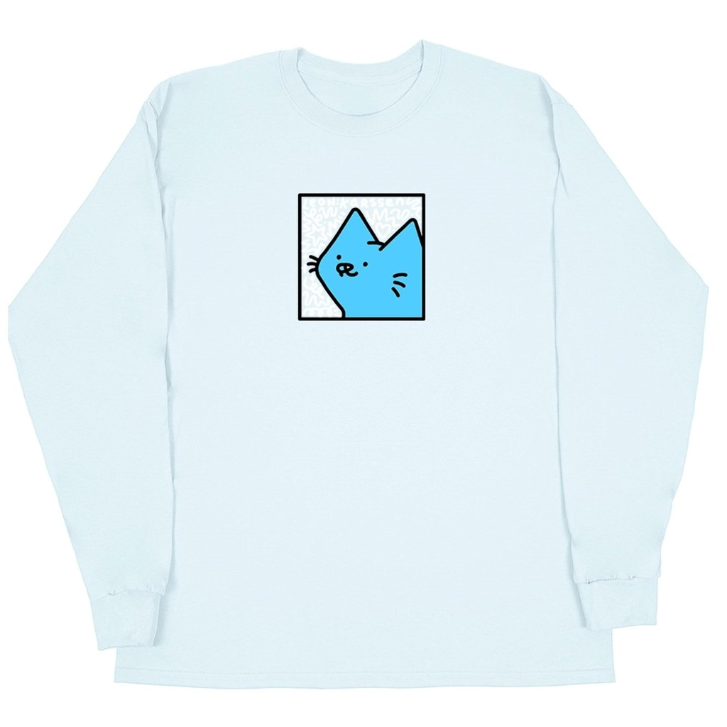 Leon Karssen Boxcat Scribble 長袖T恤 (水藍)《Jimi Skate Shop》