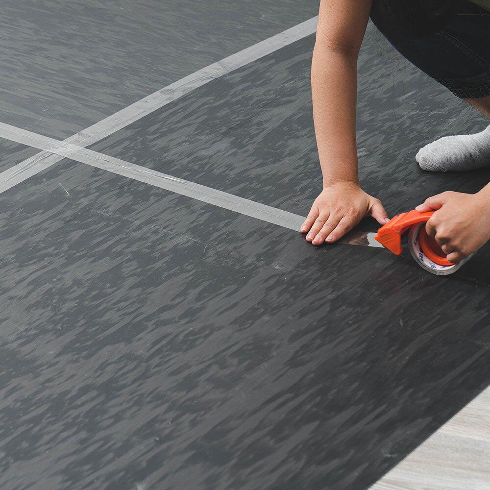 地板貼底料 防潮 鋪底 防殘膠 隔音 黑色底料 台灣製 單入 免除膠 不傷地板【Q038】