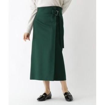 新規会員登録で3,000円OFF!【DRESSTERIOR:スカート】ベルト付きメルトンスカート