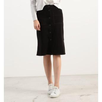 【トゥモローランド/TOMORROWLAND】 コットン フロントボタンIラインスカート WFLC5937