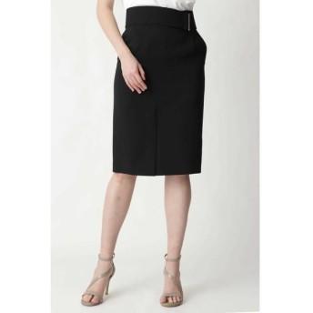 PINKY & DIANNE/ピンキーアンドダイアン ◆メタルバーベルト付きタイトスカート ブラック 38