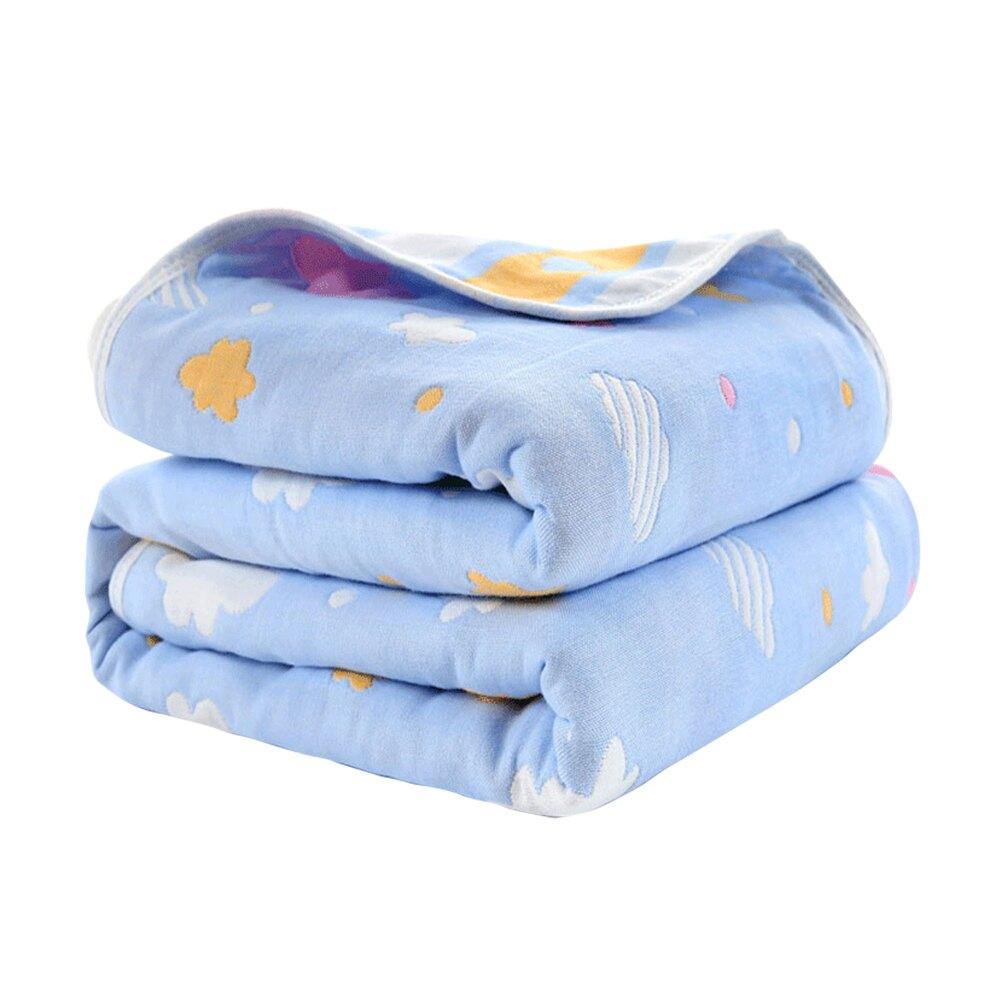 六層紗布包巾 蓋毯