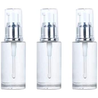 TOPBATHY 3ピース空ポンプスプレーボトル旅行石鹸ボトルプラスチックディスペンサーボトルクリーニング旅行化粧品包装40ミリリットル