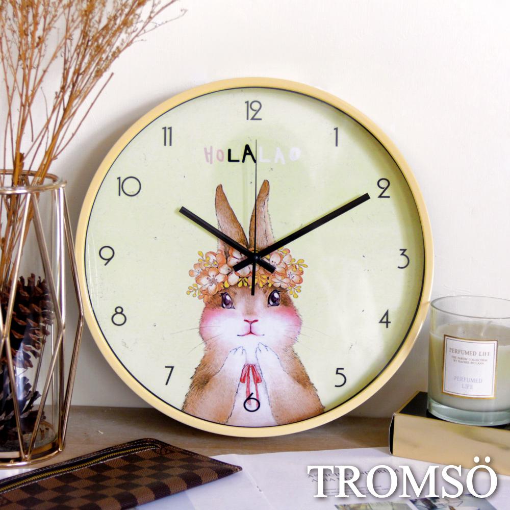 TROMSO花田森林靜音時鐘-黃花小兔