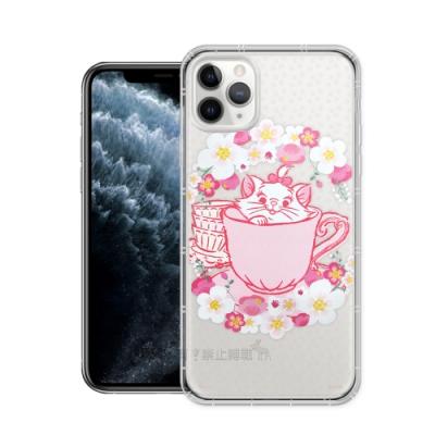 迪士尼授權 櫻花系列 iPhone 11 Pro Max 6.5吋 空壓防護手機殼(瑪麗貓)