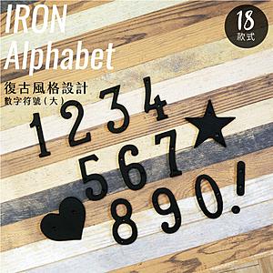 工業風 鑄鐵 數字符號 - 大 日式雜貨 招牌 門牌 看板5
