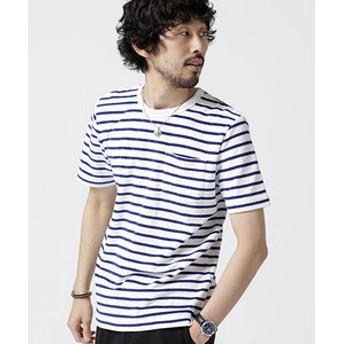 【nano・universe:トップス】ショートリングパイルTシャツ