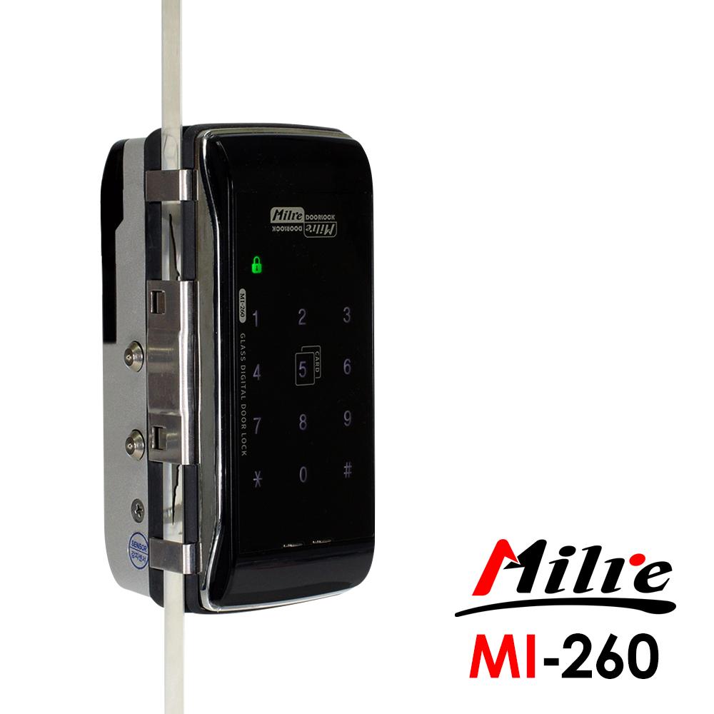 Milre 美樂 二合一密碼/卡片智能玻璃門專用電子門鎖(MI-260)(附基本安裝)