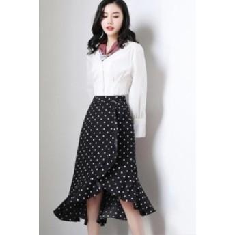韓国風 M-4XL スカート フレア タイトスカート フォーマル 大きいサイズ ミディアム丈 ミモレ丈  タイトスカート マーメイドライ