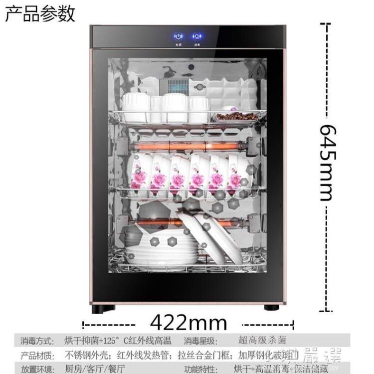 碗筷消毒櫃家用立式小型高溫臭氧烘干茶具茶杯廚房臺式商用