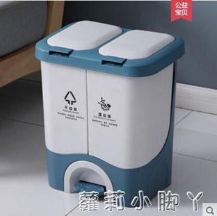 垃圾分類垃圾桶家用干濕分離雙桶腳踏客廳辦公室廚房用品腳踩帶蓋
