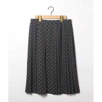 SCAPA Lサイズ/スキャパエルサイズ コモンクレピーヌスカート モスグリーン 42