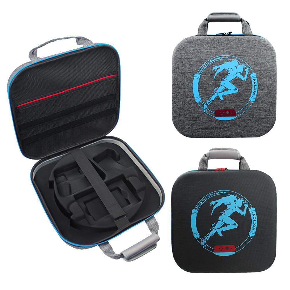 Switch 健身環收納包 全配件收納包 保護殼可放 NS 遊戲卡24枚  ring-con 主機 底座 大容量 手提收納包