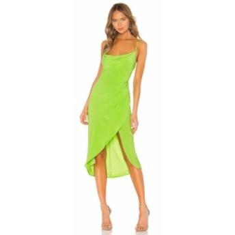 ラヴァーズフレンズ Lovers + Friends レディース ワンピース ワンピース・ドレス Noah Wrap Dress Lime Green