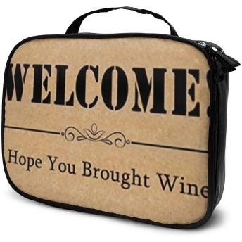ようこそ!私はあなたが女性の旅行トイレタリーバッグオーガナイザーのためのワインメイクアップバッグかわいい、スタイリッシュな化粧品のバッグを持ってきたことを願っています